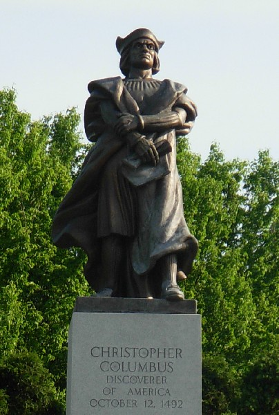 Statue of Christopher Columbus by Frank Vittor, Schenley Park, Pittsburgh PA (photo by Piotrus via Wikimedia Commons)