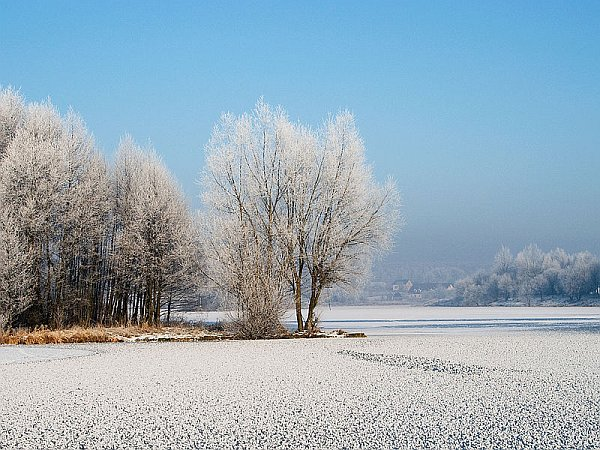Frozen lake in Poland (photo from Wikimedia Commons)